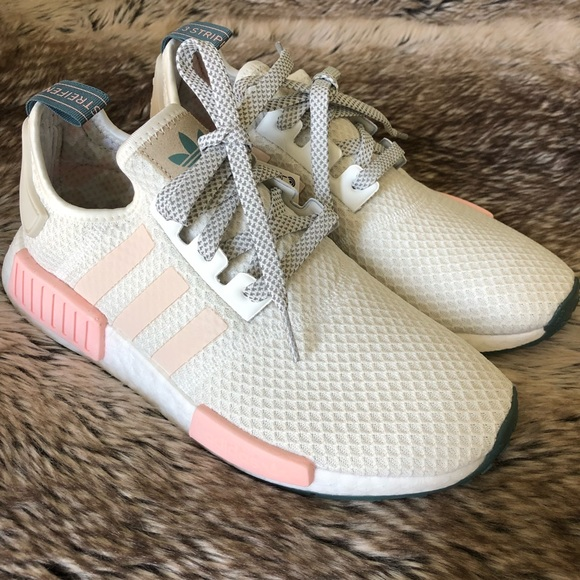 7819ef9ceff6 Adidas NMD R1 Women s Shoes White Pink